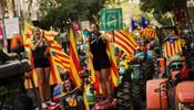 Центр Барселоны забит тракторами