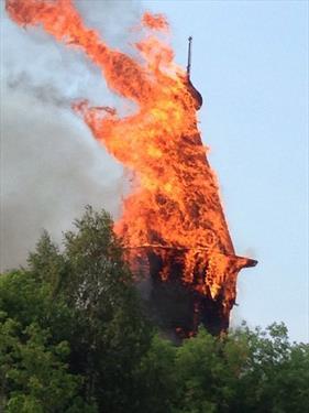 В Карелии сгорел объект ЮНЕСКО