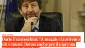 Говорил ли министр культуры и туризма Италии о закрытии страны для иностранных туристов в 2020 году?