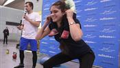В «Пулково» устроили спортивную разминку