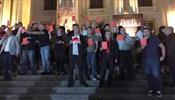 В Кутаиси раздавали стикеры «Россия оккупант»