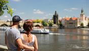 Вид на красоты Чехии с воды
