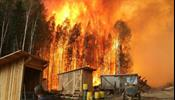 Выгорают леса у Байкала